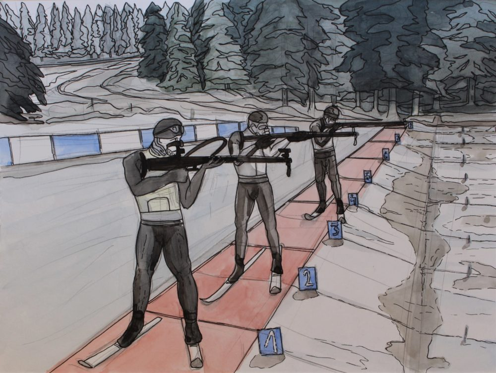 illustration's for Biathlon World Cup 2019/2020-series I.