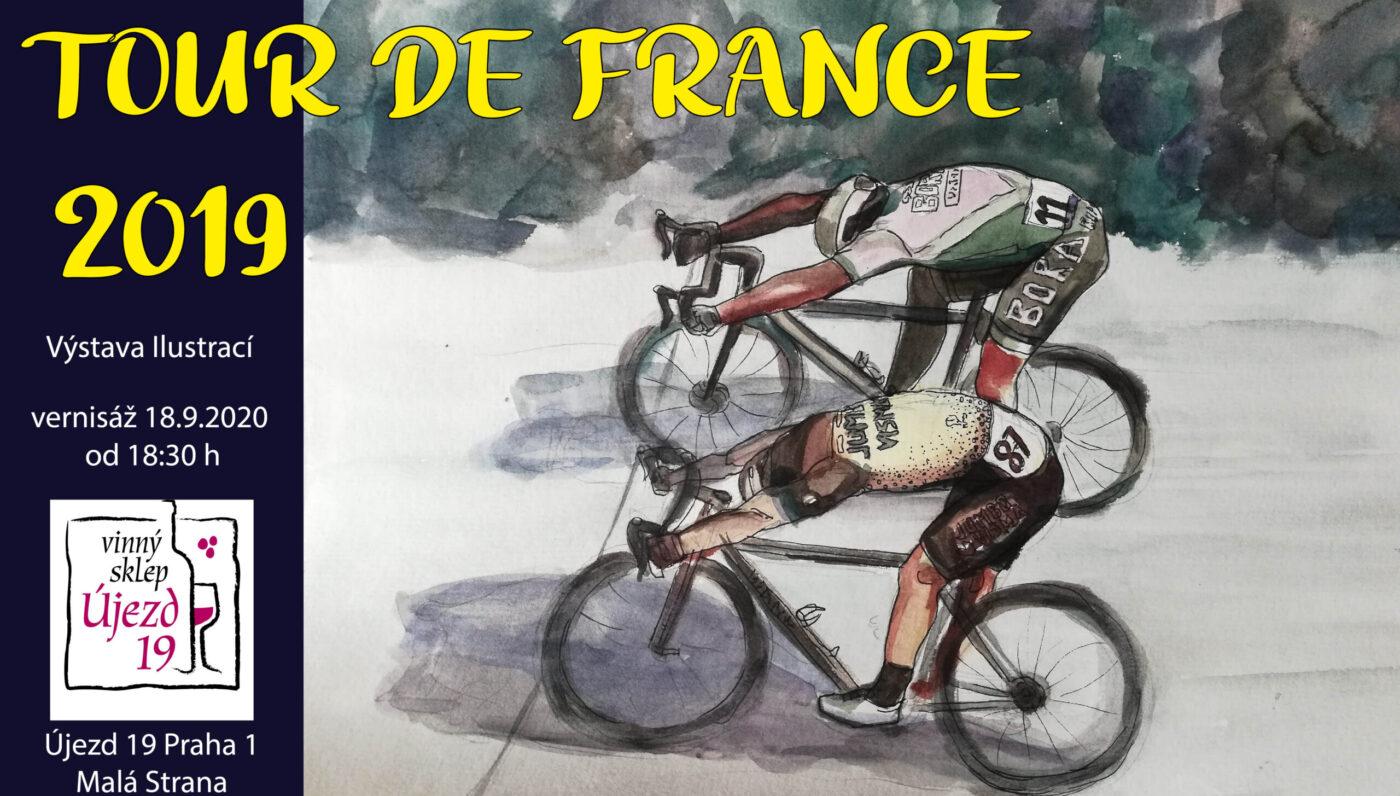 Solo exhibition-Tour de france – illtustration comentary – 18.9.-18.11. 2020